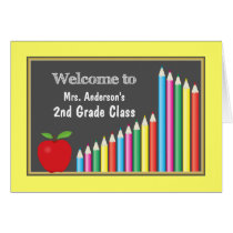 Colorful Welcome Back To Class Card