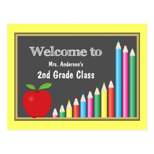 Colorful Welcome Back To School Postcards