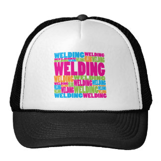 Colorful Welding Mesh Hats