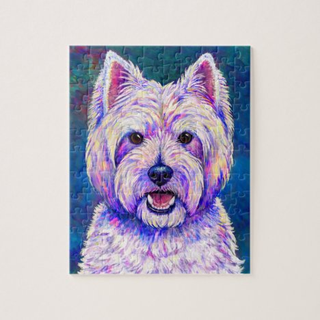 Colorful West Highland White Terrier Dog Puzzle