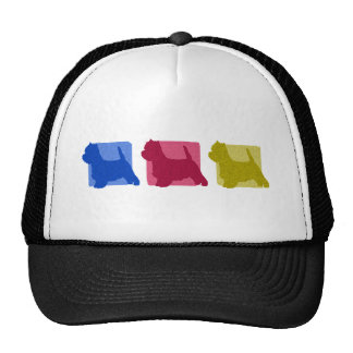 Colorful West Highland White Terrier Silhouettes Trucker Hat