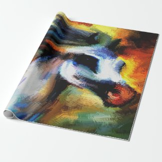 Colorful Western Performance Horse Wrapping Paper