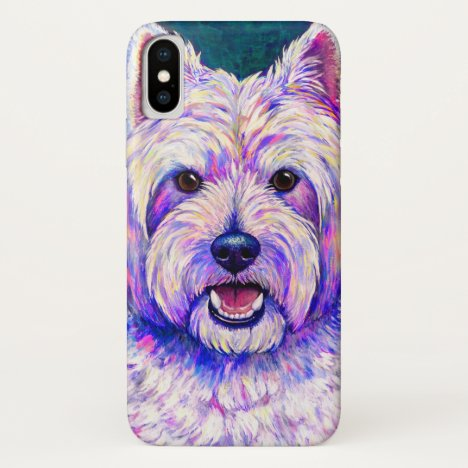 Colorful Westie Dog White Terrier Cell Phone Case