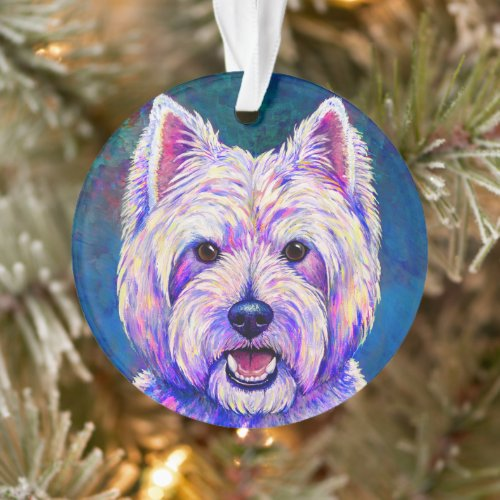 Colorful Westie Terrier Dog Acrylic Ornament