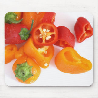 Colorful Wet Bell Peppers Mouse Pad