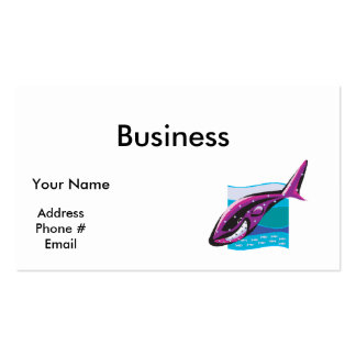 colorful whale design business card template