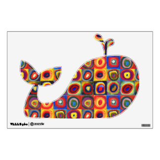 Colorful Whale Wall Decal