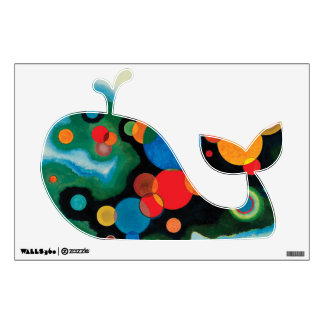 Colorful Whale Wall Sticker