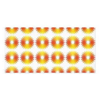 Colorful wheel gear pattern card