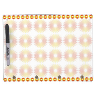 Colorful wheel gear pattern dry erase board with keychain holder