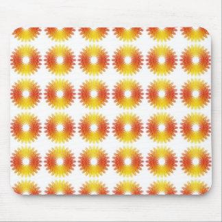 Colorful wheel gear pattern mousepad