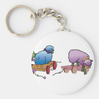 Colorful whimseys to brighten your day basic round button keychain