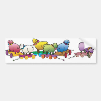 Colorful whimseys to brighten your day bumper sticker