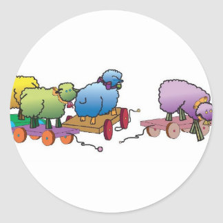 Colorful whimseys to brighten your day classic round sticker