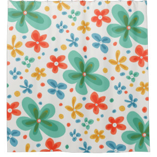Colorful Flower Shower Curtains