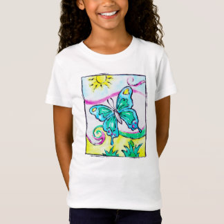 Colorful, whimsical butterfly t-shirt