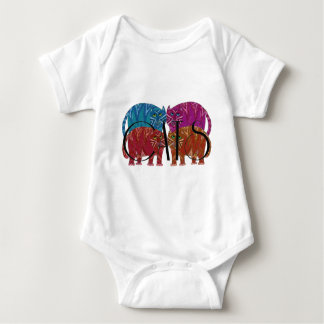 Colorful Whimsical Cats for the Cat Lover Baby Bodysuit