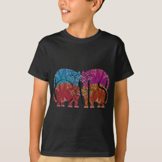 Colorful Whimsical Cats for the Cat Lover T-Shirt