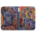 Colorful Whimsical Doodle Abstract Pattern Cases For The Kindle