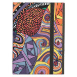 Colorful Whimsical Doodle Abstract Pattern iPad Folio Case