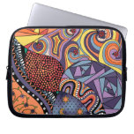 Colorful Whimsical Doodle Abstract Pattern Laptop Sleeves