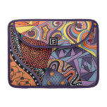 Colorful Whimsical Doodle Abstract Pattern Sleeve For MacBooks