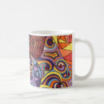 Colorful Whimsical Doodle Abstract Pattern Coffee Mugs