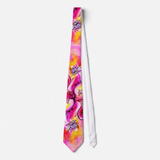 COLORFUL WHIMSICAL FLOWERS NECK TIE