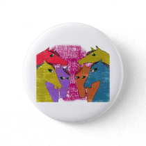 Colorful, Whimsical, Pony Design Button