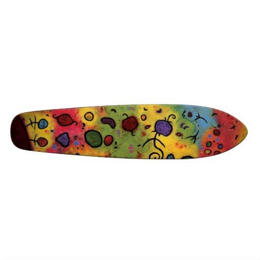 Colorful, Whimsical Skateboard