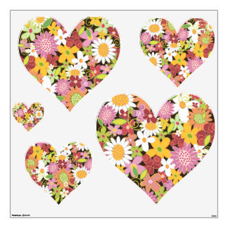 Colorful Whimsical Spring Flowers Garden Floral Wall Decal