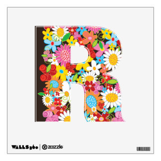 Colorful Whimsical Spring Flowers Garden Floral Wall Sticker