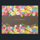 """Colorful Whimsical Spring Flowers Garden Notepad<br><div class=""""desc"""">Designed by fat*fa*tin. Easy to customize with your own text,  photo or image. For custom requests,  please contact fat*fa*tin directly. Custom charges apply.  www.zazzle.com/fat_fa_tin www.zazzle.com/color_therapy www.zazzle.com/fatfatin_blue_knot www.zazzle.com/fatfatin_red_knot www.zazzle.com/fatfatin_mini_me www.zazzle.com/fatfatin_box www.zazzle.com/fatfatin_design www.zazzle.com/fatfatin_ink</div>"""