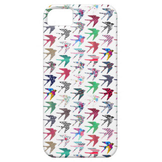 Colorful whimsical  swallow birds pattern iPhone SE/5/5s case
