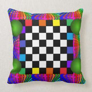 Colorful Whimsy Pillows Funny Summer Fun Beach