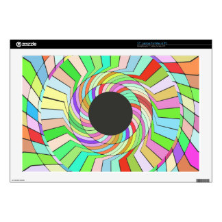 Colorful whirlpool abstract design skins for laptops