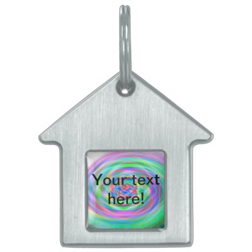 Colorful whirlpool pet name tag