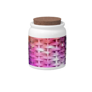 Colorful wicker seamless graphic design candy dish