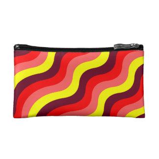 Colorful wiggly stripes makeup bag