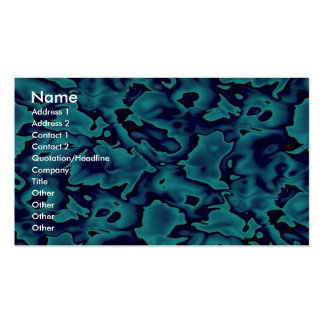 Colorful Wild blue shapes Double-Sided Standard Business Cards (Pack Of 100)