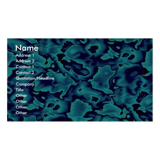 Colorful Wild blue shapes Business Card Template