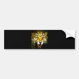 Colorful Wild Leopard Bumper Sticker