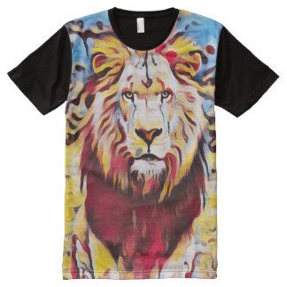 Colorful Wild Lion Airbrush Graffiti Street Art All-Over-Print T-Shirt