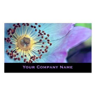 Colorful Wild Rose Custom Business Cards