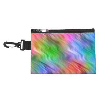 Colorful Wildflowers Wavy Texture Accessory Bag