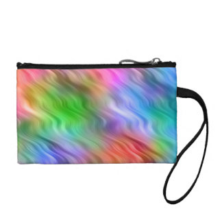 Colorful Wildflowers Wavy Texture Coin Wallet