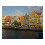Colorful Willemstad Curacao Poster