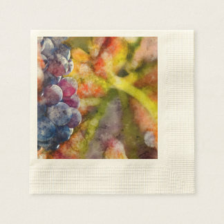 Colorful Wine Grapes on the Vine Napkin