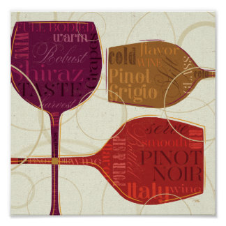 Colorful Wine Poster