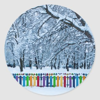 Colorful Winter Fence